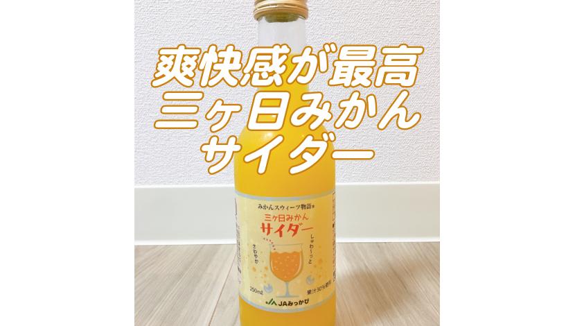 静岡県産の三ヶ日みかんサイダーを飲んでみた!他の特産品も紹介!アイキャッチ