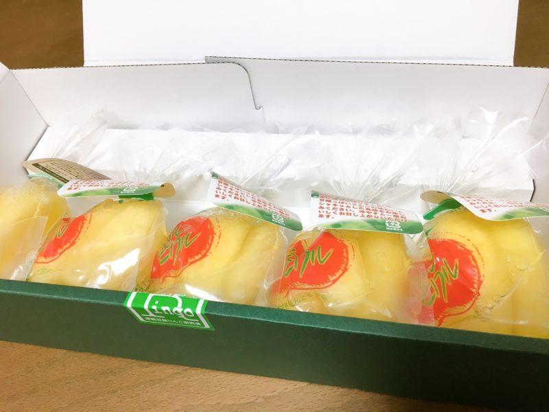 僕がお中元やお歳暮でもらったりんごのコンポート~アップルピクル~梱包中身