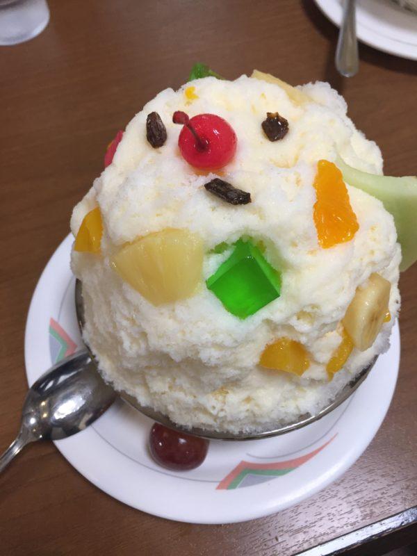 鹿児島旅行で天文館むじゃきのかき氷〜白熊(しろくま)〜を食べた