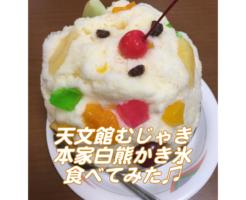 鹿児島旅行で天文館むじゃきのかき氷〜白熊(しろくま)〜を食べた アイキャッチ