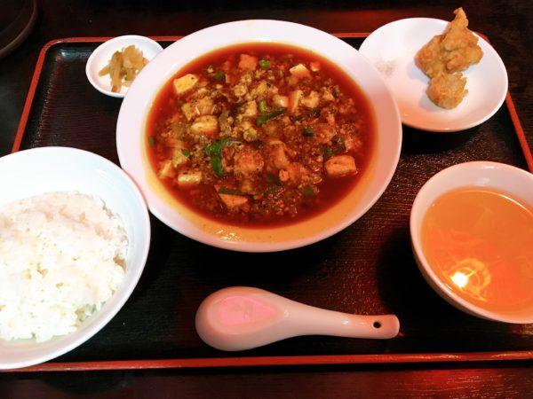 『中華料理つね川』交野市で辛~い四川麻婆豆腐を食べたい男性向け! 定食