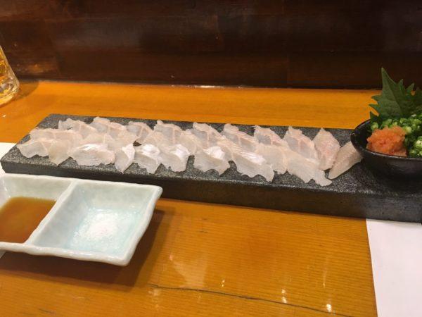 穴子しゃぶしゃぶ『凪』福岡出張で食通の上司を連れて行くならここ!穴子刺し2