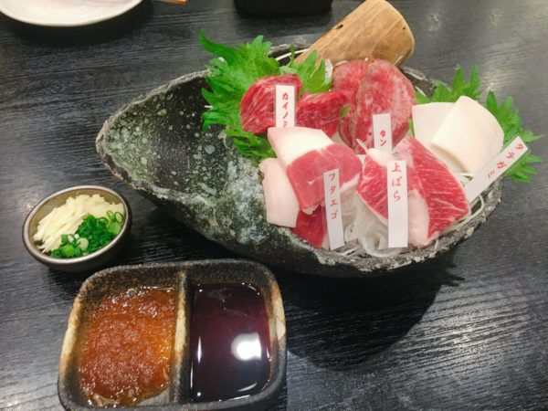 『馬肉料理りょう馬』京橋で家族と一緒に馬肉を食べたい方にオススメ 刺し盛り