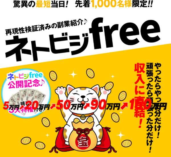 ZOOM|池田裕基のネトビジfreeの口コミ・評判は?本当に稼げるのかレビュー!